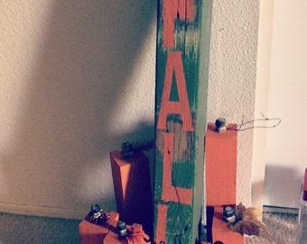 Wooden pumkin decoration