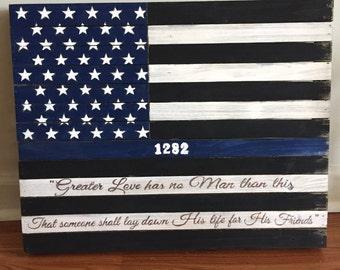16x24 Thin Blue Line Flag