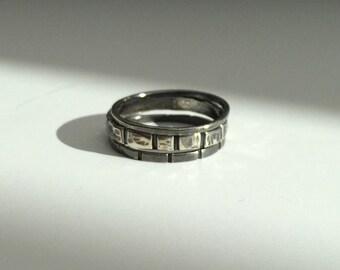 Men's Stacking Ring, Set of 3, Size 10