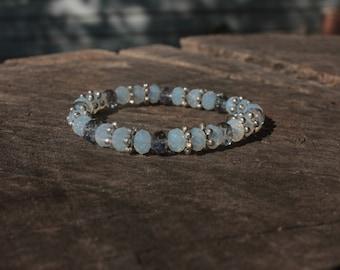 Blue Opalescent Bracelet