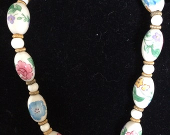Ceramic flowered Necklace