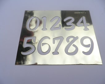 Brass Stencil Numerical
