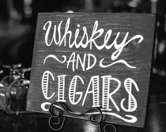 Whiskey & Cigar Bar Sign