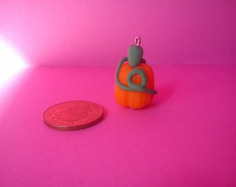 Pumpkin Charm without face Keyring