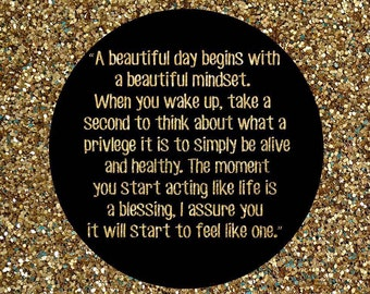 Beautiful Mindset Printable Quote
