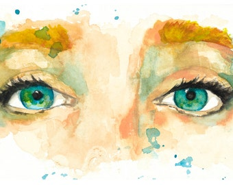 watercolor portrait // lost // art // print // home