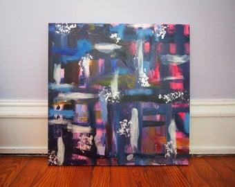 Acrylic and Metal Flake Canvas