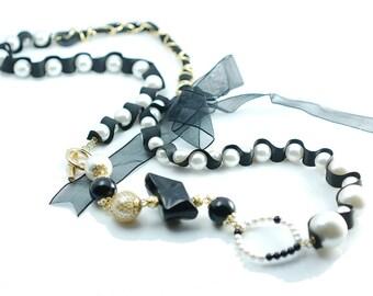 Pearls and Ribbon