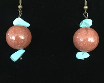 Shimmer Earrings with Turquoise