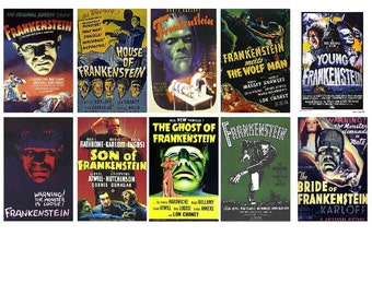 FRANKENSTEIN MOVIE POSTERS magnets, 10 - Glossy