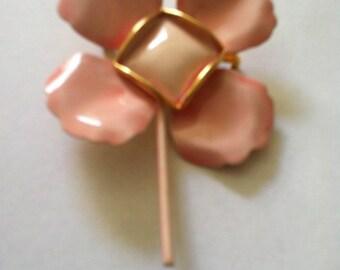 Enamel flower pin, original by Robert