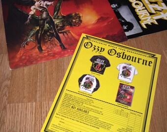 Ozzy Osbourne - The Ultimate Sin LP Original Vinyl Record Metal w/ insert
