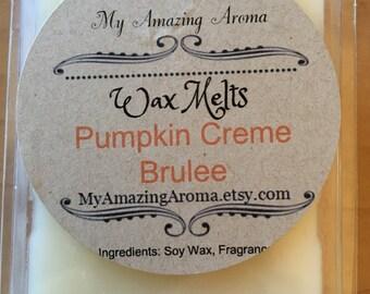 Pumpkin Creme Brulee Soy Wax Melt/Tart