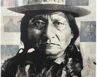 Chief Sitting Bull fine art print.