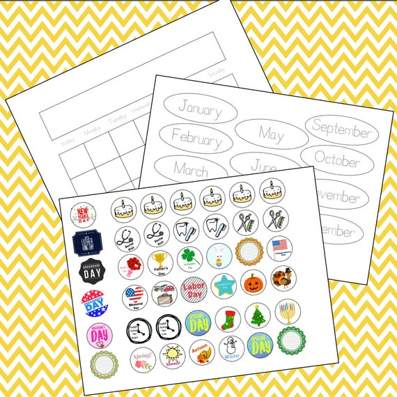 Children S Calendar With Stickers : Children s learning calendar with holiday stickers