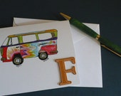 VW Van Note Card, VW Bus Note Card, Hippie Note Card, Travelers Note Card