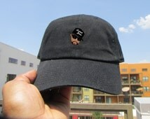 Custom Rip Pimp C Emoji Meme Twill Cotton Dad Hat, Drake 6 God Low Profile Adjustable Unisex Cap Yeezy Boost Dad Hats Caps