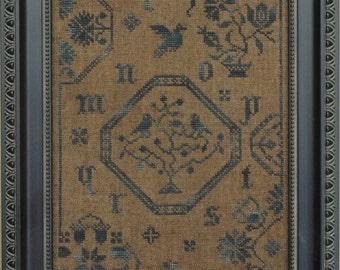 Quaker Bluebird Cross Stitch Pattern