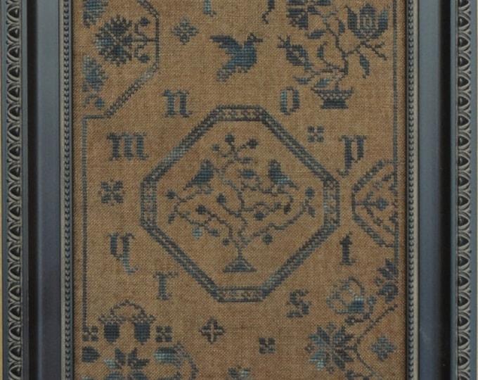 Quaker Bluebird Cross Stitch Pattern Hard Copy