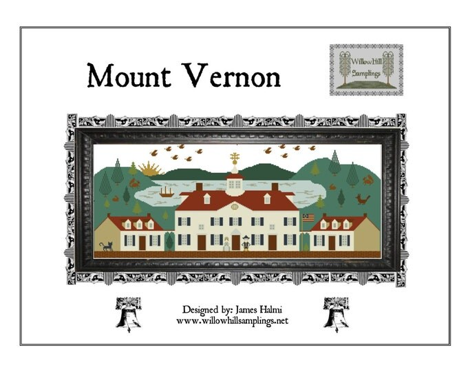 Mount Vernon Cross Stitch Pattern
