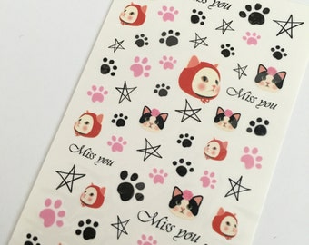 Cats Water Slide Nail Decals