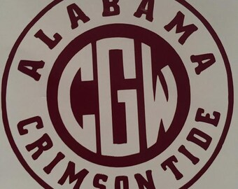 Alabama Circle mongram