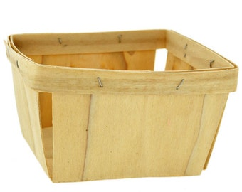 Wooden Berry Basket