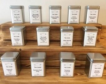 Quality Luxury Loose Tea - 50g Packed in our Tea Junki Tea Tin - Choose your Tea