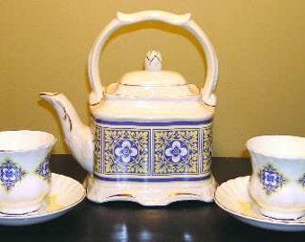 English tea set for two