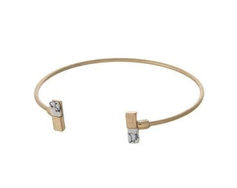 Natural Stone Accent Bangle