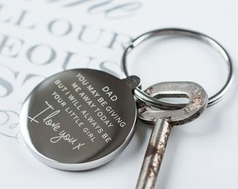 Giving Me Away Wedding Keyring