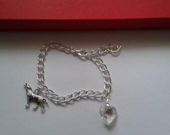 Twilight Charm Bracelet Wolf Heart