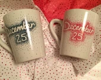 December 25 Christmas Coffee Mugs