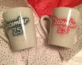 December 25 Christmas Coffee Mugs