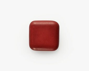 Ceramic Red Velvet Square Cabochon 1 piece