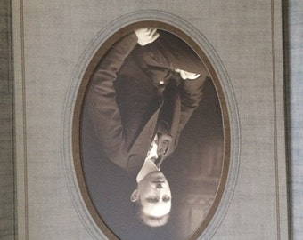 Victorian Cabinet Card, Vintage Photograph, Man in Suit