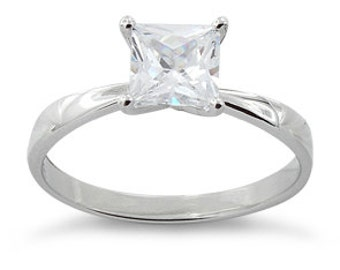 2 Ct Princess Solitaire Ring