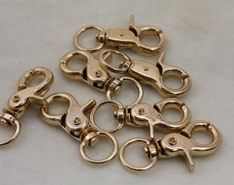 50 pcs Gold Color Key Chain Clasp Snap Locks 44x17mm