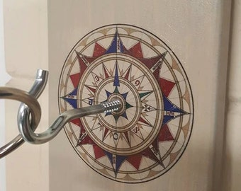 Antique Rose Compass Ring Toss Game