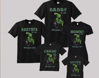 Incredible Hulk Birthday Shirt Custom personalized shirts for all family, Black