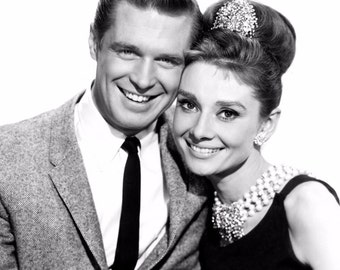 Audrey Hepburn and George Peppard Breakfast At Tiffany's 8 x 10