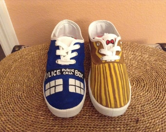 Dr. Who inspired canvas shoes