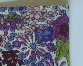 Floral Pocket Square - Purple
