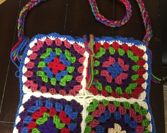 Large crochet cross handbags