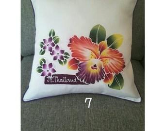 Homemade Thai Batik Silk Cushion / Pillow case / cover