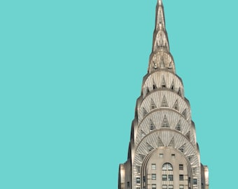 Chrysler Building, Wall Art, Print, NYC Architecture, City Series, Digital Download, New York, Choose Your Color, NYC photo, Art Deco