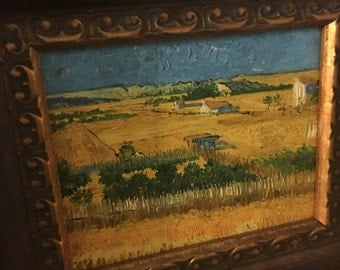 8 x 10 oil painting in wooden frame