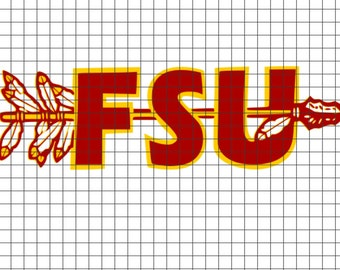 FSU spear SVG/DXF/download for Cricut and Silhouette
