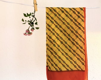 Vintage scarf, Original Trussardi scarf, Designer scarf, Shawl, Foulard, Colorful scarf, Designer scarf, Headband, 70s Headscarf, Boho scarf
