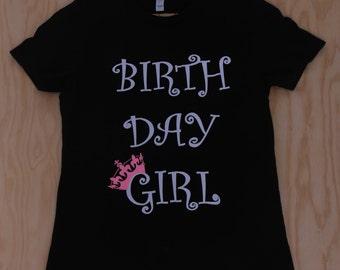 Birthday Girl T-Shirt w/Glitter crown